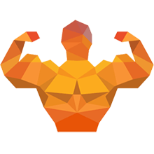Sportler mit Muskeln - Muskelaufbau und Fitness