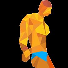 Sportler zeigt seine Oberarme