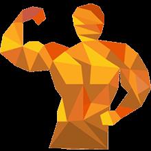 Bodybuilder beim Posen