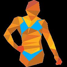 Sportlerin auf dem Laufsteg
